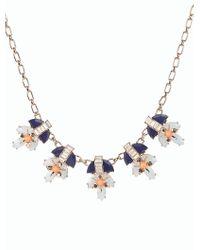 Talbots - Blue Mixed Split Bead Necklace - Lyst