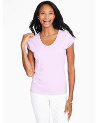 Talbots - Purple Platinum Jersey Top - Lyst