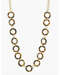 Talbots - Metallic Tortoiseshell Circle-link Necklace - Lyst
