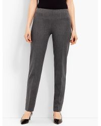 Talbots - Gray Refined Bi-stretch Straight-leg Pants - Lyst