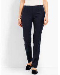 Talbots - Blue Refined Bi-stretch Side-zip Slim Leg - Lyst