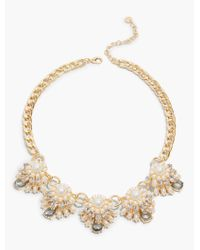 Talbots | Metallic Pearl & Drop Necklace | Lyst