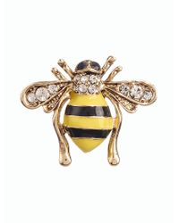 Talbots - Metallic Bee Brooch - Lyst