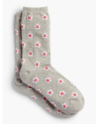 Talbots - Gray Daisy Trouser Socks for Men - Lyst