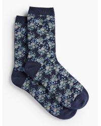 Talbots | Blue Allover Floral Trouser Socks for Men | Lyst