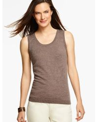 Talbots - Gray Merino Wool Charming Shell - Lyst