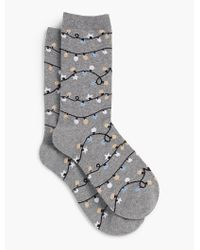 Talbots - Gray Christmas Light Socks for Men - Lyst