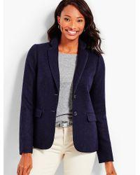 Talbots Blue Herringbone Shetland Jacket