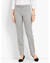 Talbots Gray Chambray High-waist Straight-leg - Curvy Fit