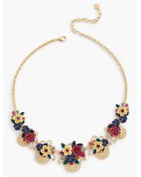 Talbots - Metallic Filigree Statement Necklace - Lyst