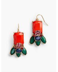 Talbots - Red Bead-drop Earrings - Lyst