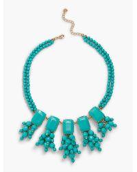 Talbots - Blue Oversized Bead Statement Necklace - Lyst