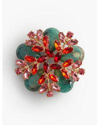 Talbots - Multicolor Sprig Cluster Brooch - Lyst