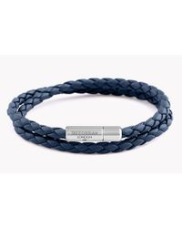 Tateossian - Blue Double Wrap Slim Pop Taito Bracelet for Men - Lyst
