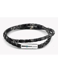 Tateossian | Multicolor Pop Print Scoubidou Silver Bracelet In Grey | Lyst