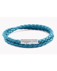 Tateossian   Blue Double Wrap Slim Pop Taito Bracelet   Lyst