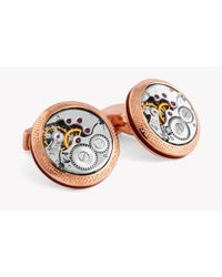 Tateossian - Multicolor Signature Vintage Skeleton Round Cufflinks In Rose Gold for Men - Lyst