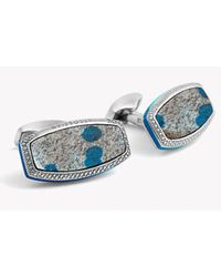 Tateossian | Blue Stones Of The World - Limited Edition - Silver K-2 Granite Azurite | Lyst