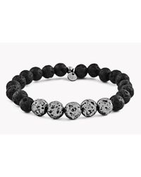 Tateossian - Black Asteroid & 5 Silver Beads Bracelet - Lyst