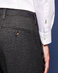 Ted Baker - Multicolor Slim Semi Plain Trousers for Men - Lyst
