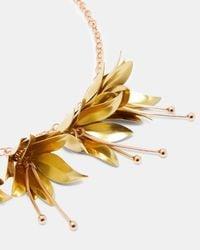 Ted Baker - Metallic Fuchsia Drop Necklace - Lyst