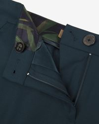 Ted Baker - Green Chintz Curved Wool Suit Trousers - Lyst