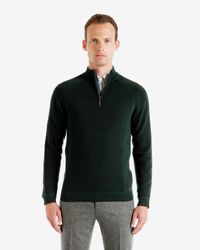 Ted Baker - Green Ribbed Funnel Neck Jumper for Men - Lyst
