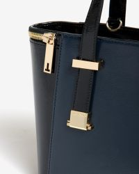 Ted Baker - Blue Small Zip Detail Tote Bag - Lyst