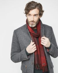 Ted Baker - Purple Checked Scarf for Men - Lyst