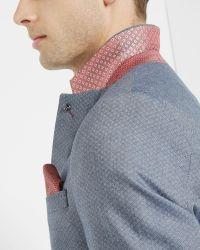 Ted Baker   Blue Mini Design Cotton Blazer for Men   Lyst