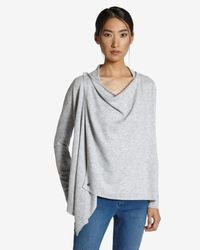 Ted Baker - Gray Magnetic Fastening Wrap Cardigan - Lyst