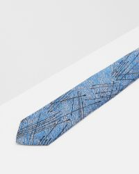 Ted Baker | Blue Splatter Silk Tie for Men | Lyst