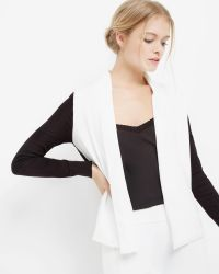 Ted Baker | Black Monochrome Woven Wrap Cardigan | Lyst