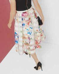 Ted Baker - Multicolor Tapestry Floral Burnout Skirt - Lyst