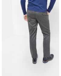 Ted Baker - Gray Wool Mix Trouser In Slim Fit for Men - Lyst