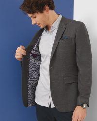Ted Baker - Gray Veerity Diamond Jacquard Classic Fit Blazer for Men - Lyst