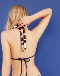 Ted Baker - Blue Modern Stripe Bikini Top - Lyst