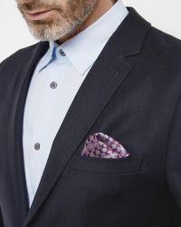 Ted Baker Blue Deconstructed Wool Blazer for men
