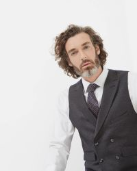 Ted Baker | Gray Debonair Wool Waistcoat for Men | Lyst