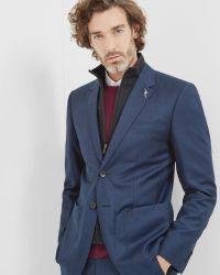 Ted Baker | Blue Commuter Wool Suit Jacket for Men | Lyst