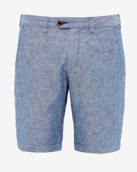 Ted Baker | Ted Baker Geo Floral Mid Swim Shorts, Bright Blue for Men | Lyst