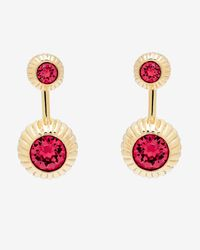 Ted Baker | Pink Crystal Etched Ball Earrings | Lyst