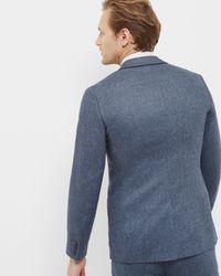 Ted Baker - Blue Herringbone Wool Jacket for Men - Lyst