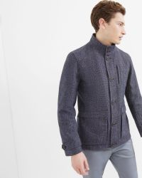 Ted Baker | Blue Removable Quilted Lining Jacket for Men | Lyst