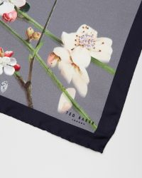 Ted Baker - Gray Bird Print Silk Pocket Square for Men - Lyst