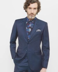Ted Baker | Blue Mini Design Wool Jacket for Men | Lyst