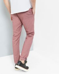 Ted Baker - Red Slim Fit Oxford Chinos for Men - Lyst