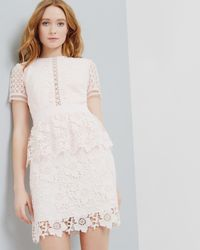 Ted Baker | Pink Layered Lace Dress | Lyst