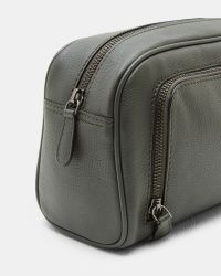 e4bb5c717351 Lyst - Ted Baker Leather Wash Bag in Green for Men