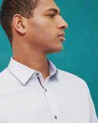 Ted Baker - Blue Dotted Design Shirt for Men - Lyst